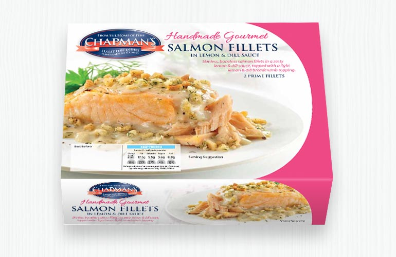Salmon Fillets in Lemon and Dill Sauce
